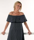 Dress Sienna Zwart/Wit